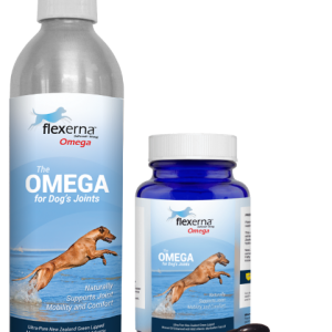Flexerna Omega 3-Formula all-natural joint supplement pump and gelcaps